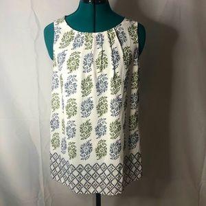 LOFT • sleeveless blouse • floral print • NWOT